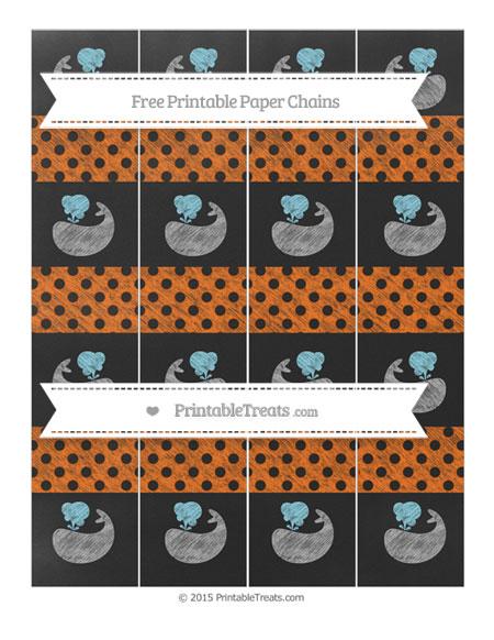 Free Safety Orange Polka Dot Chalk Style Whale Paper Chains