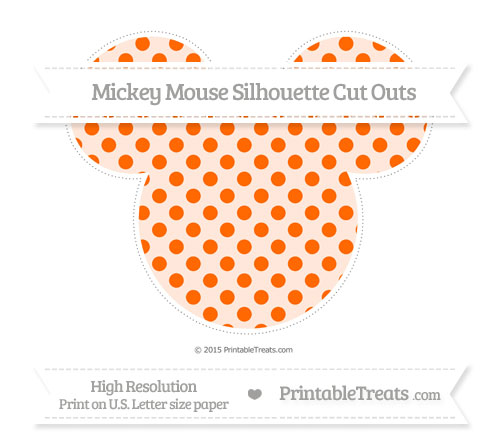 Free Safety Orange Polka Dot Extra Large Mickey Mouse Silhouette Cut Outs