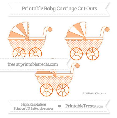 Free Safety Orange Polka Dot Medium Baby Carriage Cut Outs