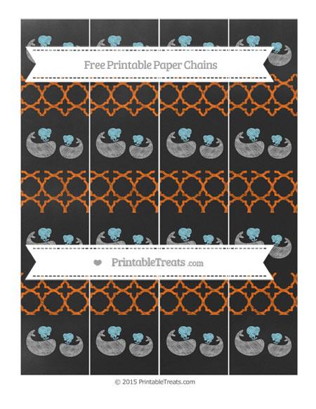 Free Safety Orange Quatrefoil Pattern Chalk Style Baby Whale Paper Chains