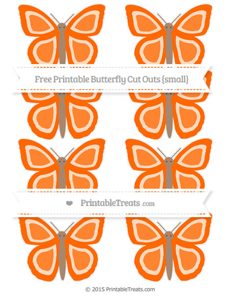 Free Safety Orange Small Butterfly Cut Outs