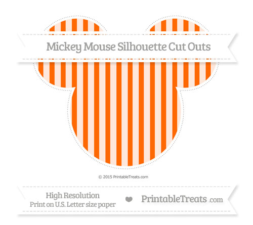Free Safety Orange Striped Extra Large Mickey Mouse Silhouette Cut Outs