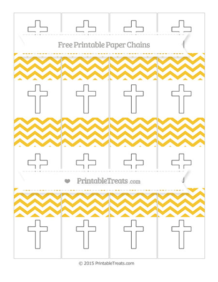 Free Saffron Yellow Chevron Cross Paper Chains