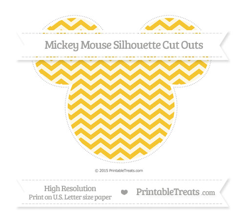Free Saffron Yellow Chevron Extra Large Mickey Mouse Silhouette Cut Outs