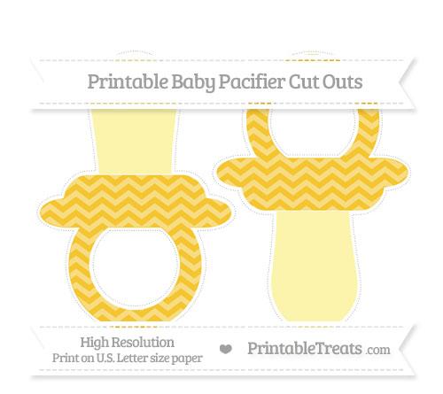 Free Saffron Yellow Chevron Large Baby Pacifier Cut Outs