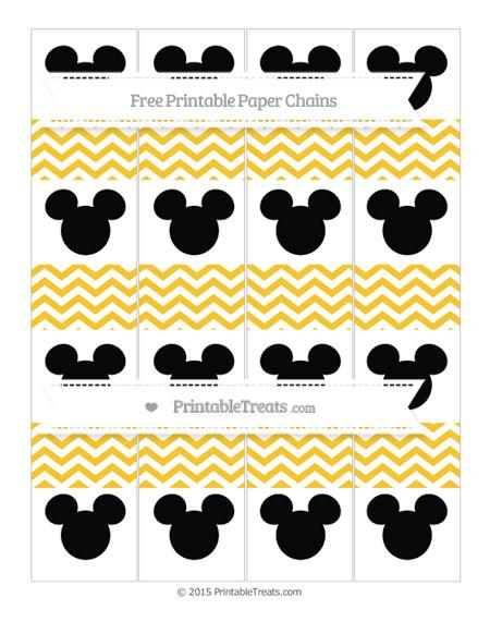 Free Saffron Yellow Chevron Mickey Mouse Paper Chains