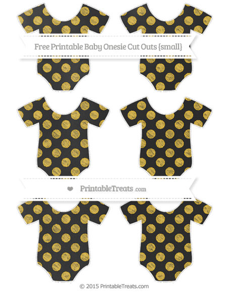 Free Saffron Yellow Dotted Pattern Chalk Style Small Baby Onesie Cut Outs