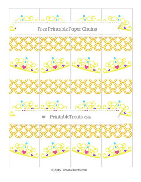 Free Saffron Yellow Fish Scale Pattern Princess Tiara Paper Chains