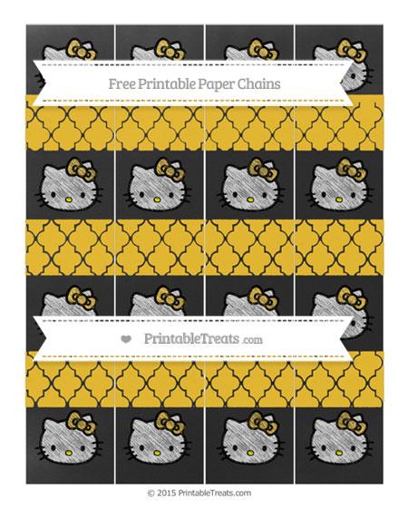 Free Saffron Yellow Moroccan Tile Chalk Style Hello Kitty Paper Chains