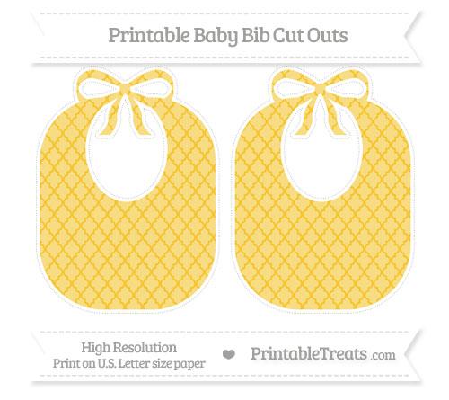 Free Saffron Yellow Moroccan Tile Large Baby Bib Cut Outs
