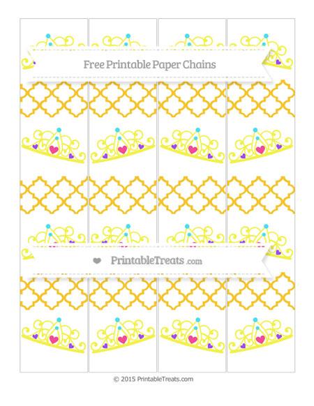 Free Saffron Yellow Moroccan Tile Princess Tiara Paper Chains