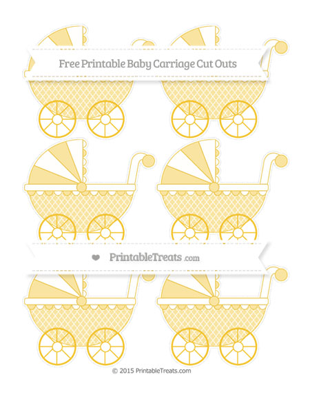 Free Saffron Yellow Moroccan Tile Small Baby Carriage Cut Outs