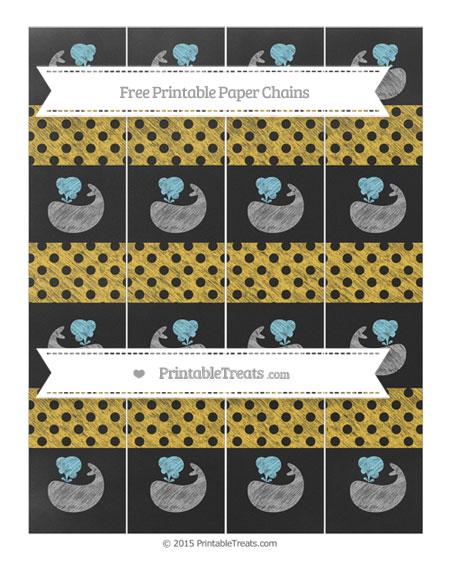 Free Saffron Yellow Polka Dot Chalk Style Whale Paper Chains