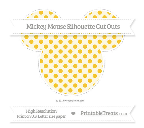 Free Saffron Yellow Polka Dot Extra Large Mickey Mouse Silhouette Cut Outs