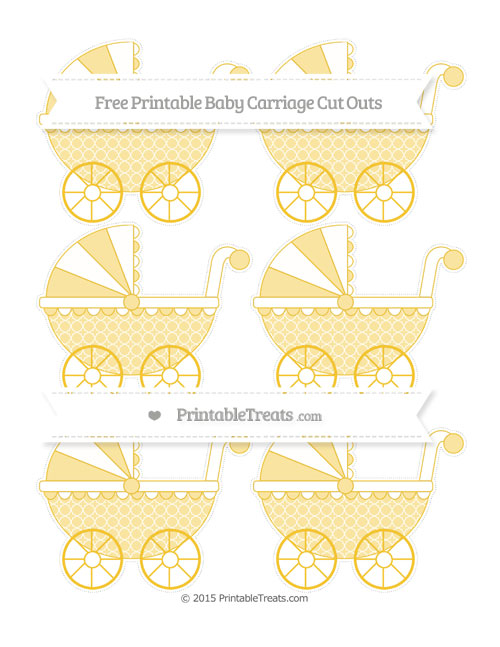 Free Saffron Yellow Quatrefoil Pattern Small Baby Carriage Cut Outs