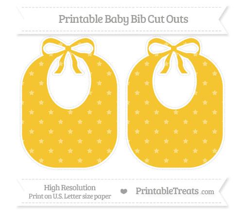 Free Saffron Yellow Star Pattern Large Baby Bib Cut Outs
