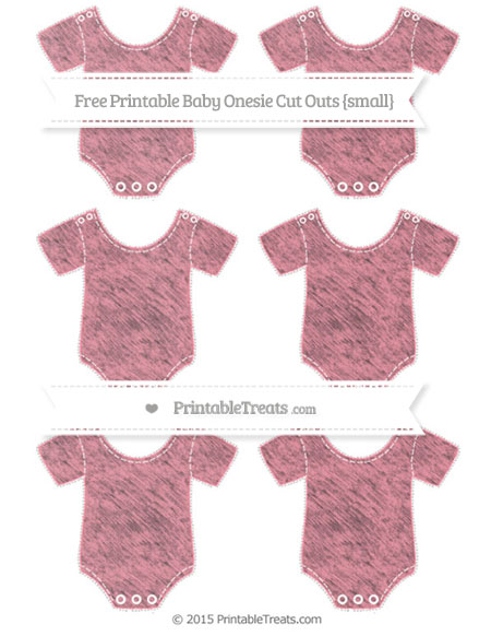 Free Salmon Pink Chalk Style Small Baby Onesie Cut Outs