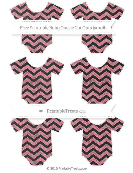 Free Salmon Pink Chevron Chalk Style Small Baby Onesie Cut Outs