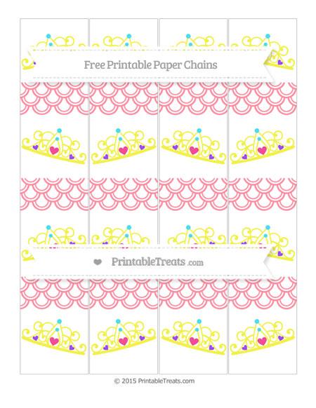 Free Salmon Pink Fish Scale Pattern Princess Tiara Paper Chains