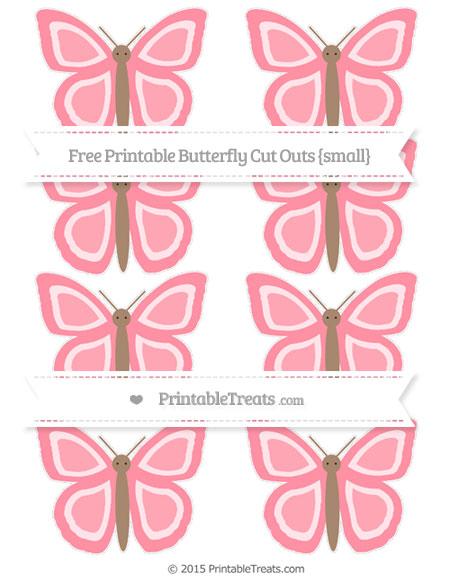 Free Salmon Pink Small Butterfly Cut Outs