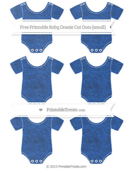 Free Sapphire Blue Chalk Style Small Baby Onesie Cut Outs