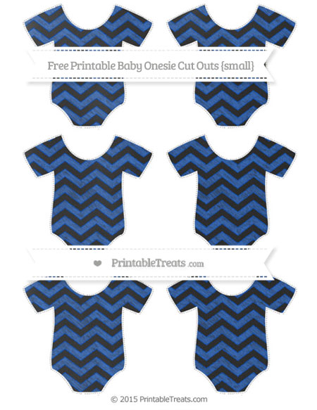 Free Sapphire Blue Chevron Chalk Style Small Baby Onesie Cut Outs
