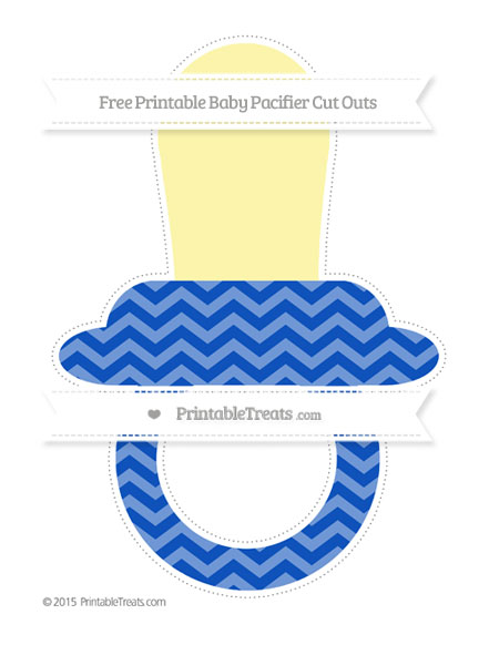 Free Sapphire Blue Chevron Extra Large Baby Pacifier Cut Outs