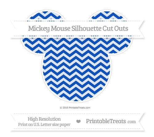 Free Sapphire Blue Chevron Extra Large Mickey Mouse Silhouette Cut Outs