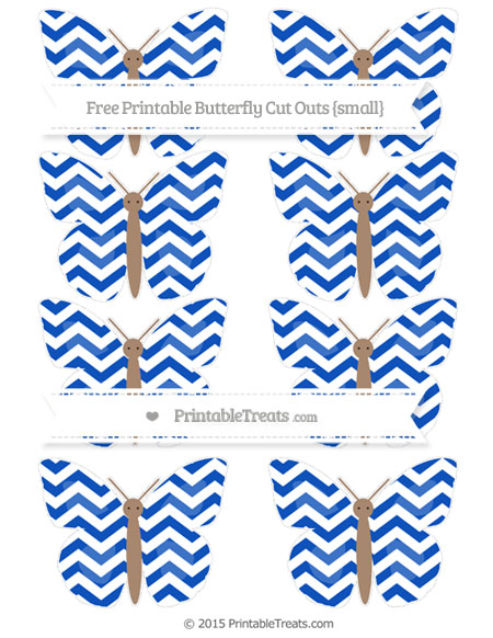 Free Sapphire Blue Chevron Small Butterfly Cut Outs
