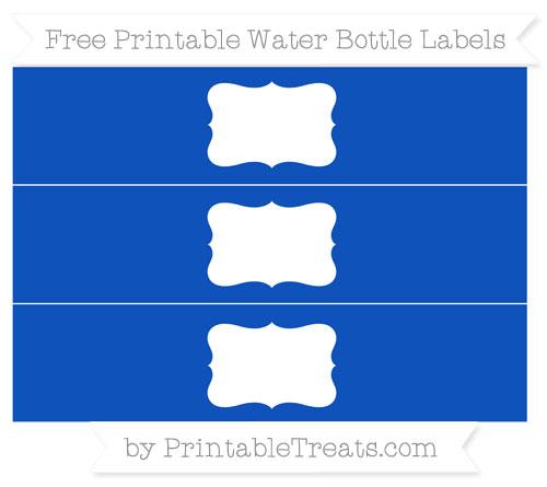 Free Sapphire Blue Water Bottle Labels