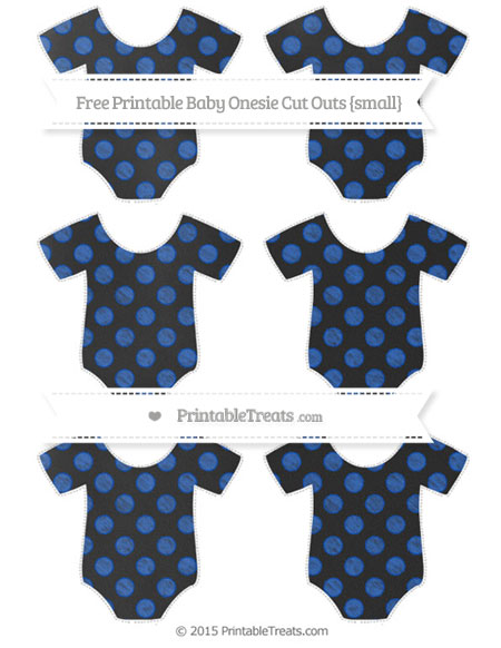 Free Sapphire Blue Dotted Pattern Chalk Style Small Baby Onesie Cut Outs