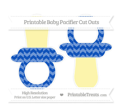 Free Sapphire Blue Herringbone Pattern Large Baby Pacifier Cut Outs