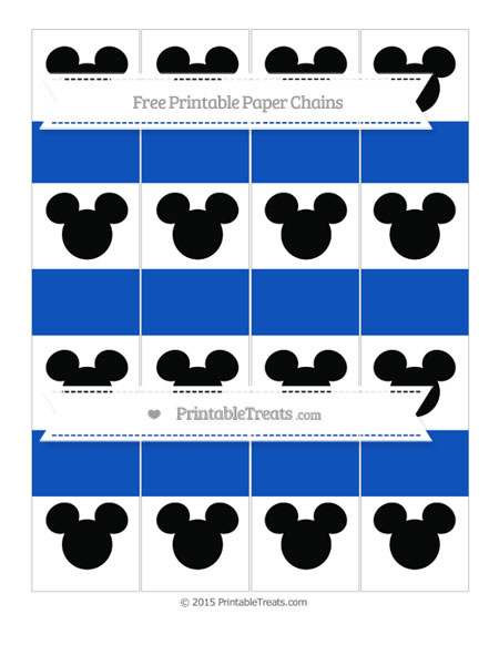 Free Sapphire Blue Mickey Mouse Paper Chains