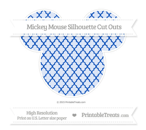 Free Sapphire Blue Moroccan Tile Extra Large Mickey Mouse Silhouette Cut Outs