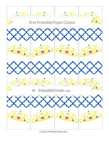 Free Sapphire Blue Moroccan Tile Princess Tiara Paper Chains