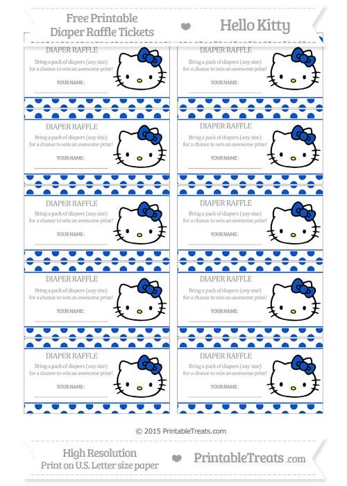 Free Sapphire Blue Polka Dot Hello Kitty Diaper Raffle Tickets
