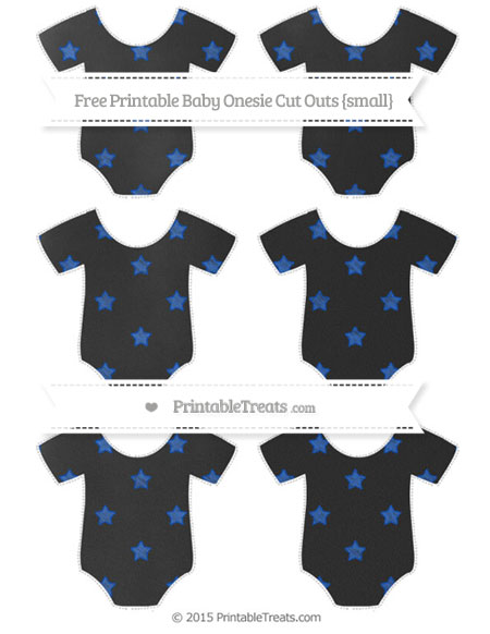 Free Sapphire Blue Star Pattern Chalk Style Small Baby Onesie Cut Outs