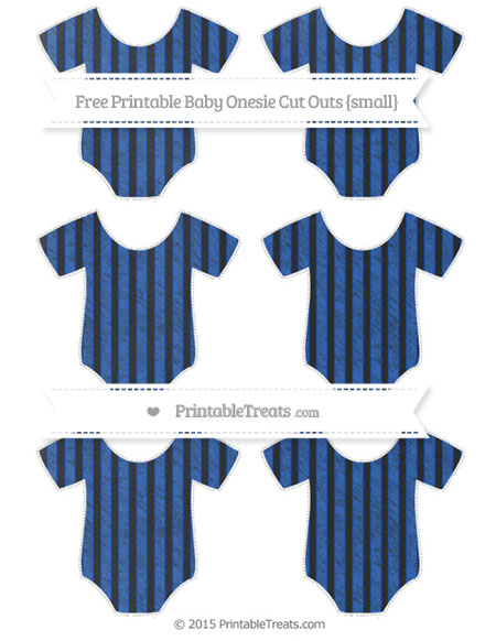 Free Sapphire Blue Thin Striped Pattern Chalk Style Small Baby Onesie Cut Outs