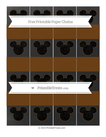 Free Sepia Chalk Style Mickey Mouse Paper Chains