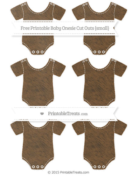 Free Sepia Chalk Style Small Baby Onesie Cut Outs