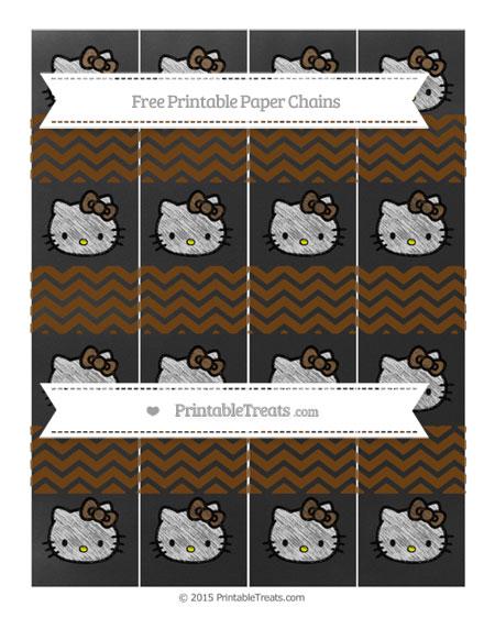 Free Sepia Chevron Chalk Style Hello Kitty Paper Chains