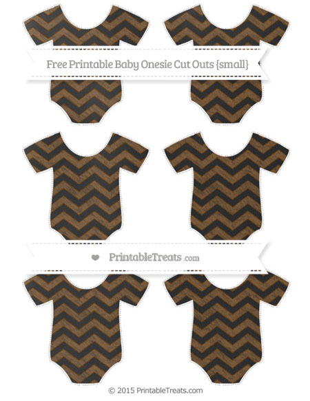 Free Sepia Chevron Chalk Style Small Baby Onesie Cut Outs