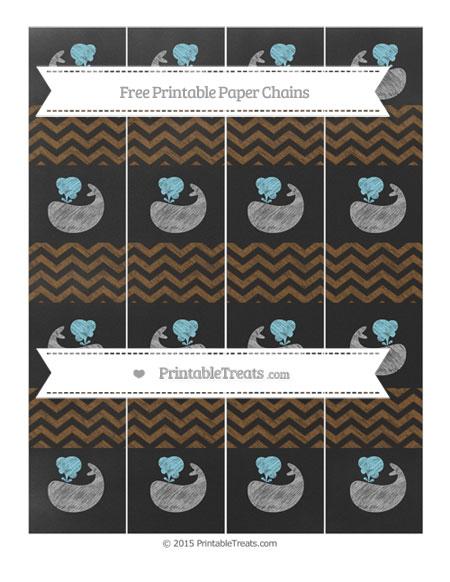 Free Sepia Chevron Chalk Style Whale Paper Chains