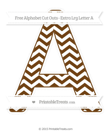 Free Sepia Chevron Extra Large Capital Letter A Cut Outs