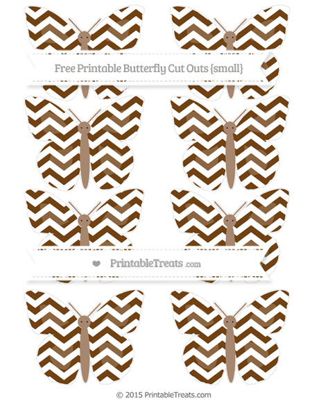 Free Sepia Chevron Small Butterfly Cut Outs