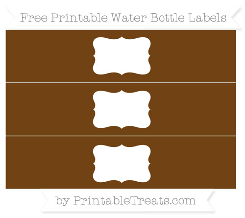 Free Sepia Water Bottle Labels