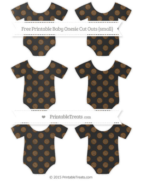 Free Sepia Dotted Pattern Chalk Style Small Baby Onesie Cut Outs