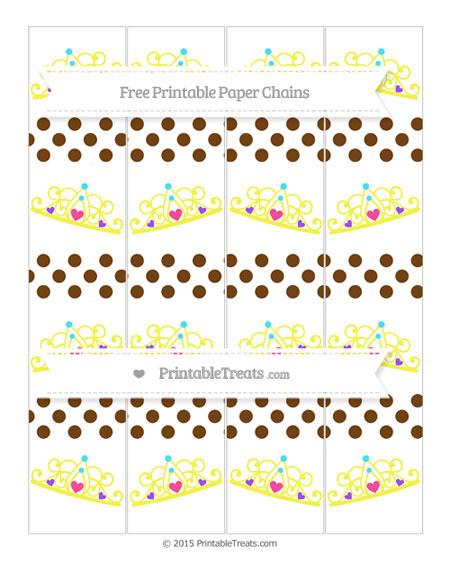 Free Sepia Dotted Pattern Princess Tiara Paper Chains