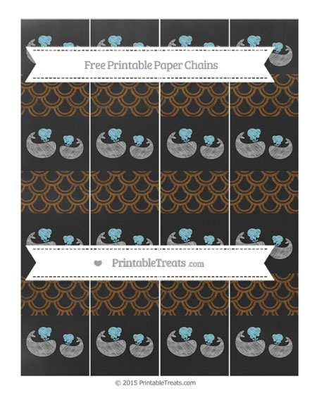 Free Sepia Fish Scale Pattern Chalk Style Baby Whale Paper Chains