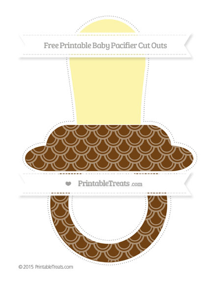 Free Sepia Fish Scale Pattern Extra Large Baby Pacifier Cut Outs